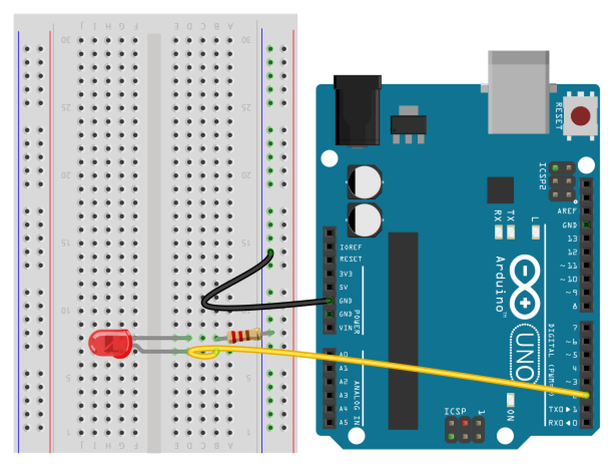 Arduino hook up led