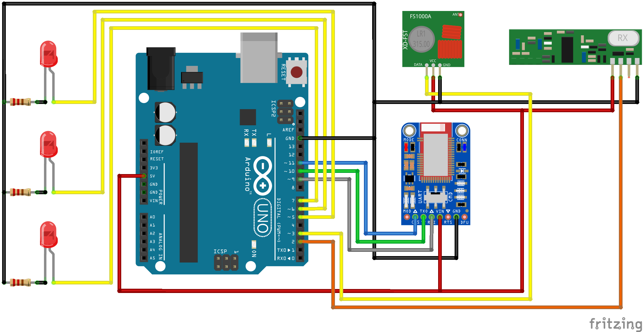 Arduino Bluefruit RF Data Gatherer Example